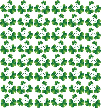 Seamless vector clover background for St. Patricks Day Vector