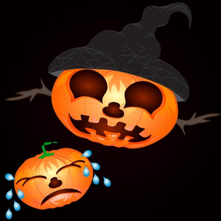 Pumpkin for Halloween  Vector Background Vector