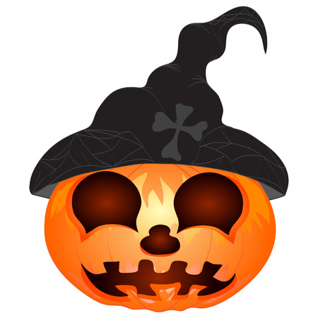 Pumpkin for Halloween isolated on the white background  Vector Vector
