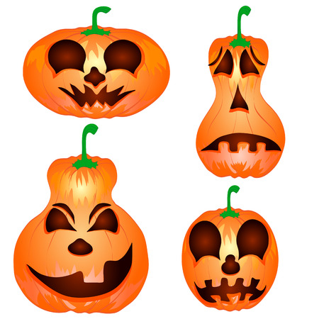 Pumpkin for Halloween isolated on the white background  Vector