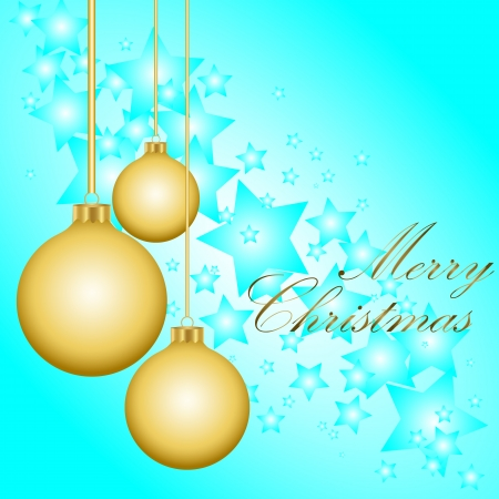 Golden Christmas balls  Vector illustration Vector