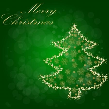 star light: Christmas Tree From Star Light  Vector