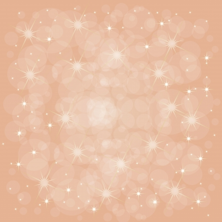 Defocused red abstract christmas background with stars  Vector illustration Vector
