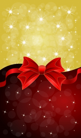 Greeting cards with red bows  Vector illustration
