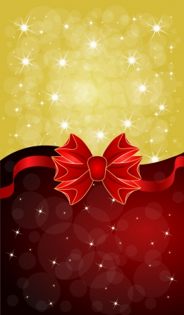 Greeting cards with red bows  Vector illustration  Vector