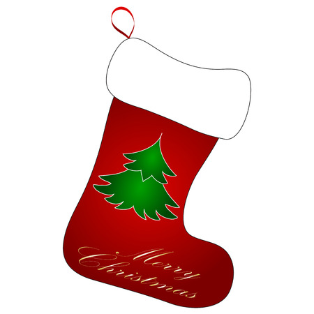 Cute Christmas Socks set - vector cartoon Illustration  Vector