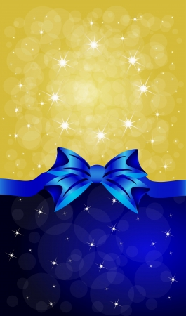 Greeting cards with blue bows  Vector illustration  Vector