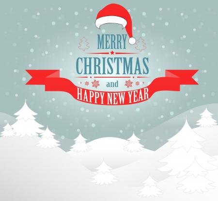 Merry Christmas greeting   Illustration