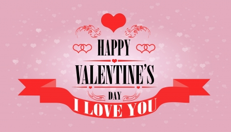 Valentines day beautiful card. Vector