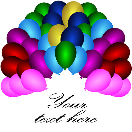 vector of balloons in various colors Illustration