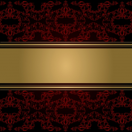 Vector seamless border in Victorian style. Element for design. Illustration