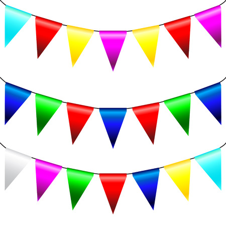 Multi Colored Triangular Flags