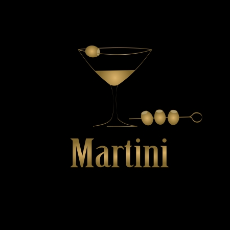 Martini glass design menu background