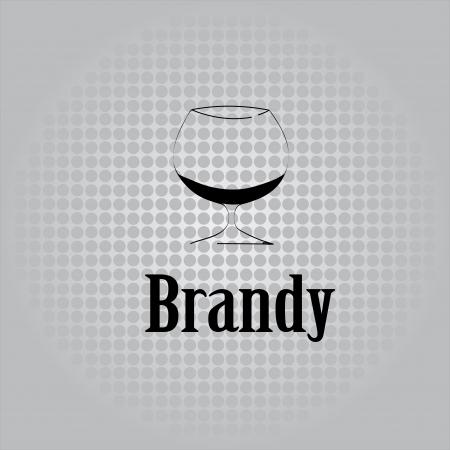 brandy: brandy glass design menu background Illustration