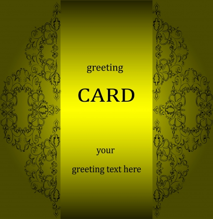 Vintage greeting cards in Victorian style  Vector Illustration