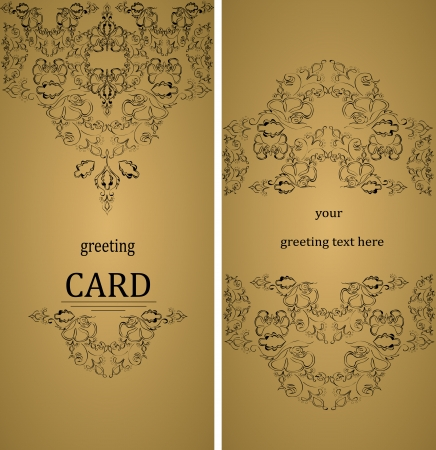 Vintage greeting cards in Victorian style