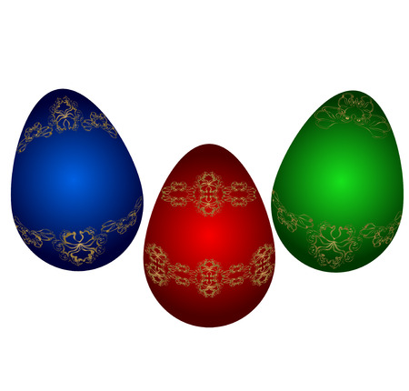 viewfinderchallenge3: Easter eggs. Vector illustration. Eps 10.