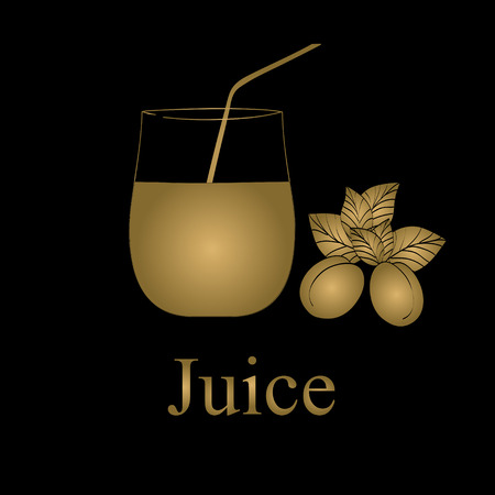 Fruit juice symbols illustration Vector