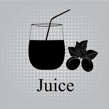 Fruit juice symbol illustration Stock Vector - 27203461