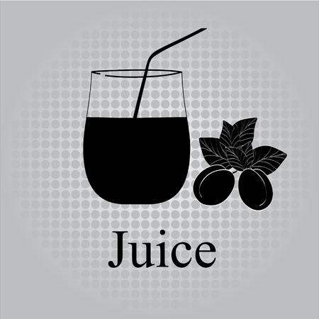 Fruit juice symbol illustration Stock Vector - 27203461