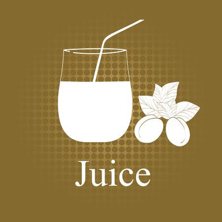 Fruit juice symbol illustration Stock Vector - 27203466