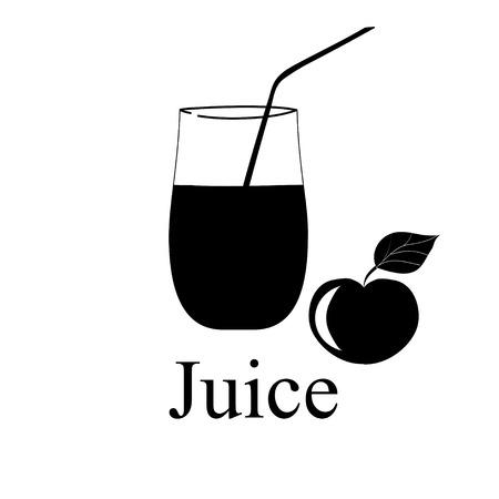 Fruit juice symbol illustration Stock Vector - 27203492
