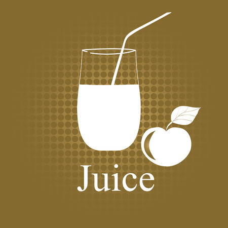 Fruit juice symbol illustration Vector
