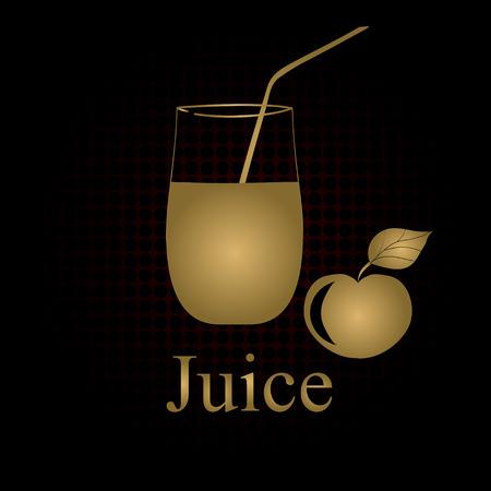Fruit juice symbol illustration Stock Vector - 27203345