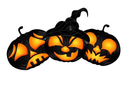 all saints day: Pumpkins. beautiful vector illustration to Halloween Illustration