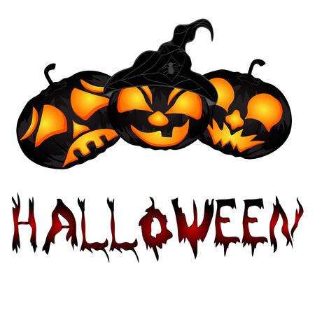 Pumpkins. beautiful vector illustration to Halloween Vector