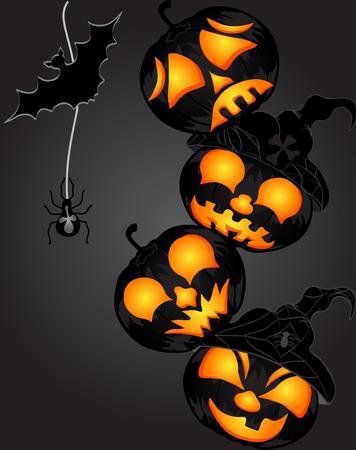 Pumpkin for Halloween. Vector Background Vector