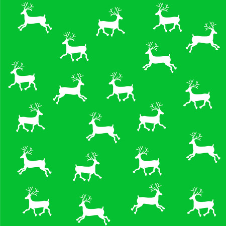 刺繍新年飾り。ビーズ クリスマス飾りトナカイ。ベクトル