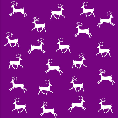 gestickt: Das gestickte Verzierung des neuen Jahres. Perlen Weihnachtsschmuck Rentier. Vektor Illustration