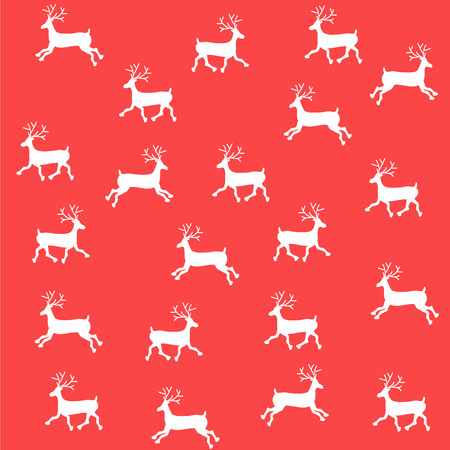 The embroidered New Year's ornament. Beaded Christmas ornament reindeer. vector  イラスト・ベクター素材