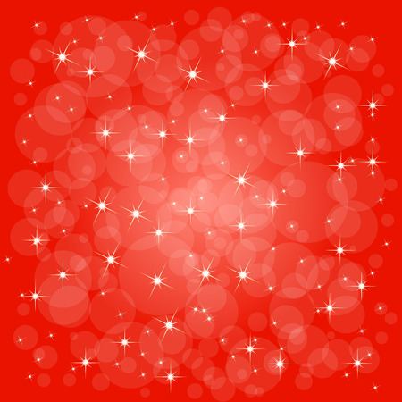 Defocused abstract christmas background with stars. Vector Vector