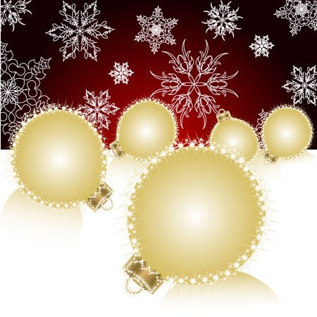 Christmas ball on abstract light background. Vector Vector