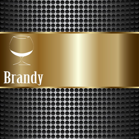 brandy: brandy glass design menu background. Vector