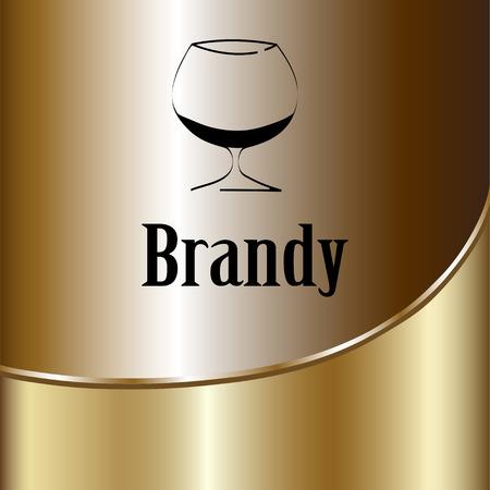 brandy: brandy glass design menu background. Vector