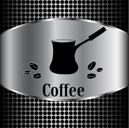 fond caf�: tasse de caf� de menu concept de la marque. Vector coffee background