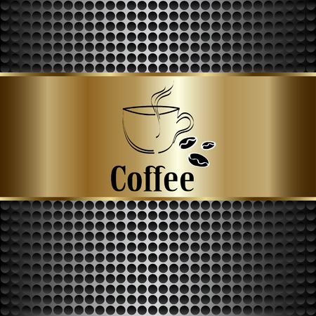 coffeehouse: coffee cup label concept menu. Vector coffee background