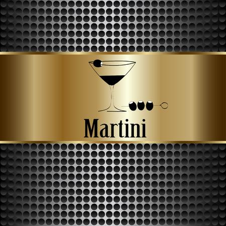 cocktail bar: Martini glass design menu background. Vector