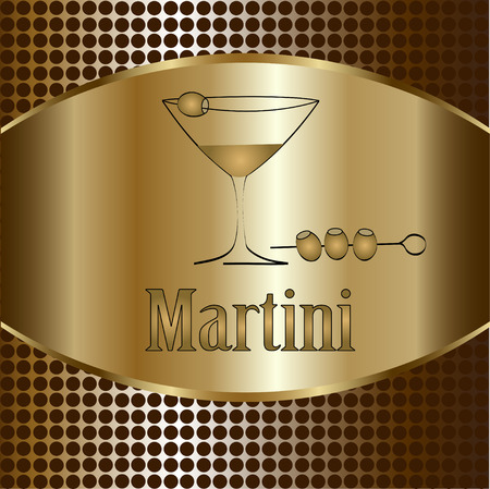 dark olive: Martini glass design menu background. Vector