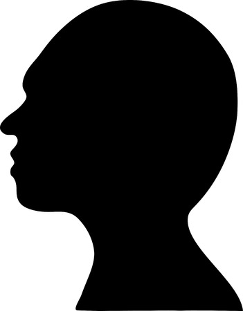 cameo: beautiful silhouette of a man in profile. vector Illustration
