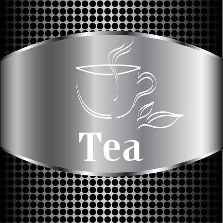 coffeehouse: Cup of tea. Vector label, idea (poster) for your menu Illustration