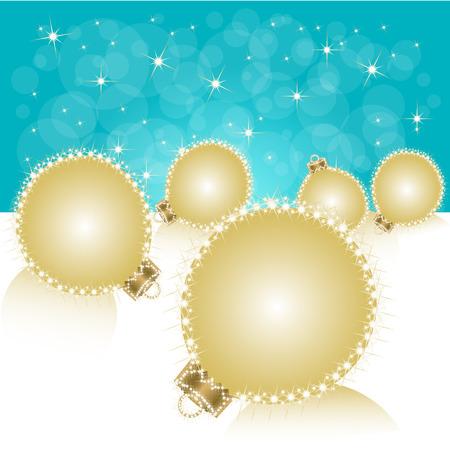 Christmas ball on abstract light background. Vector Vector