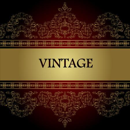 old letter: Vintage background. Vector ESP10.