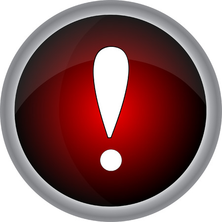 navigation mark: Attention sign icon. Exclamation mark. Hazard warning symbol. button  Modern UI website navigation. Vector