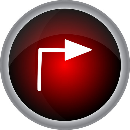 satin round: Arrow sign. Vector icon