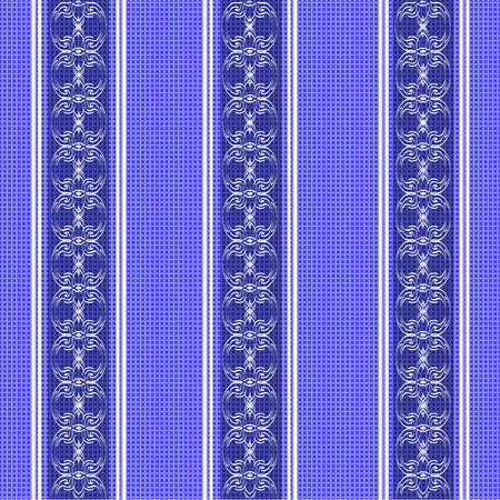 chequered drapery: vintage tablecloth seamless pattern. beautiful vector background, the idea for decor, wallpaper and textiles Illustration