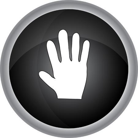 dedo me�ique: Muestra de la mano humana. Vector icono